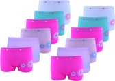 Meisjes Microfiber ondergoed 2000 - Microfiber dames panty - VOORDELIGE 12 PACK 140/146
