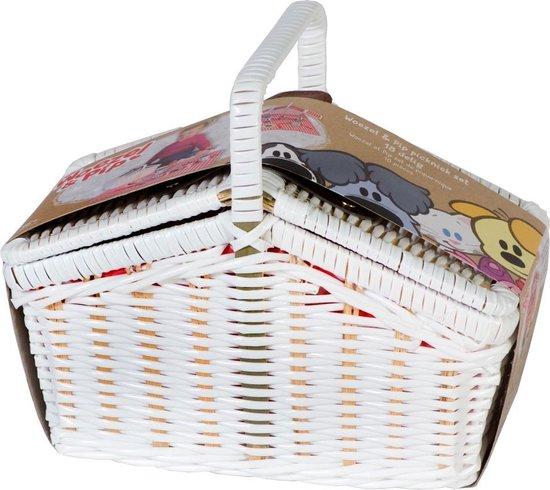 Woezel en Pip Tinnen Picknickset 14-delig - Rubo Toys