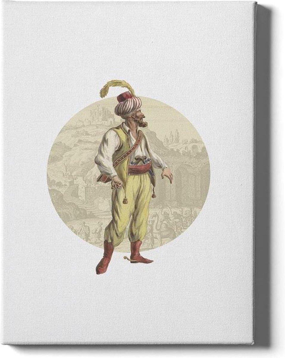 Arabian Soldier - Walljar - Muurdecoratie - Schilderij - Plexiglas