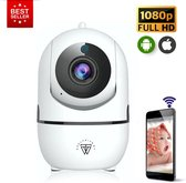HD Wifi Babyfoon met Camera – Beveiligingscamera - 1080p - NL iOS/Android App – Wit