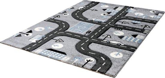 Lalee Amigo – Vloerkleed - Vloer kleed - Autobaan - Tapijt – Karpet - 120x170 – Grijs