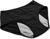 Lekvrije Menstruatie ondergoed slipje - L (period panties) - Zwarte Onderbroek met absorptie