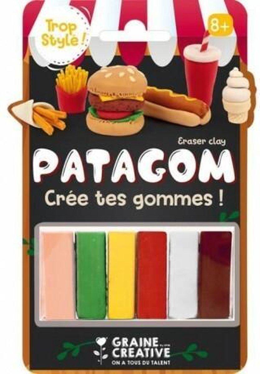 Maak je eigen gum   Gum Klei   Patagom 6 blokjes - junk food