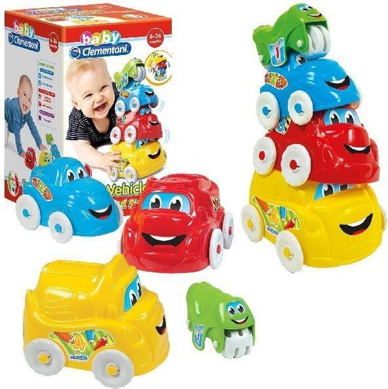 Stapeltoren Baby Auto's Clementoni