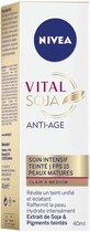 NIVEA Vital Soja Anti-Aging Intensive Care Light Tinted Medium SPF 15 (1x40 ml), anti-aging serum verrijkt met soja en gekleurde pigmenten, gezichtsbehandeling voor vrouwen met een rijpere huid