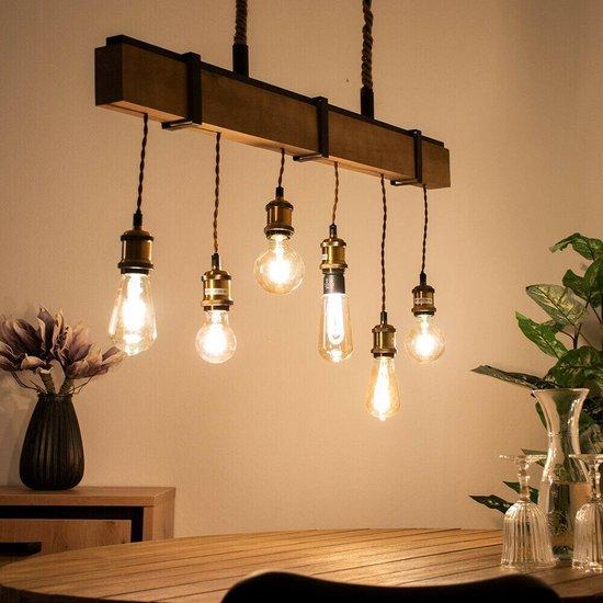 Bol Com Bestseller Tijdelijke Actie Retro Hanglamp Houten Balk Lamp Eetkamer Lamp