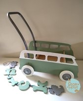 """Loopkarretje """"VW busje"""" - Div. kleuren. Stokhout"""