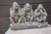 Apen, Horen-Zien-Zwijgen, Welcome