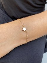 Joboly Ster star hippe minimalistische armband - Dames - Goudkleurig - 15 cm