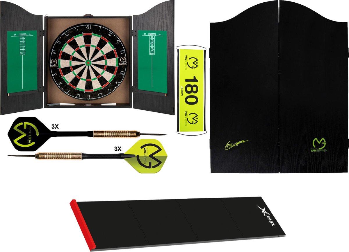 XQ Max - Michael van Gerwen - Home darts centre MvG handtekening - Complete dartset - inclusief puzzle dartmat