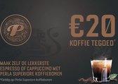 20,- Koffietegoed op Perla koffie bij Albert Heijn