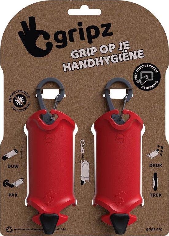 Gripz -rood - grip op je handhygiëne - schone handen - duo 186 C