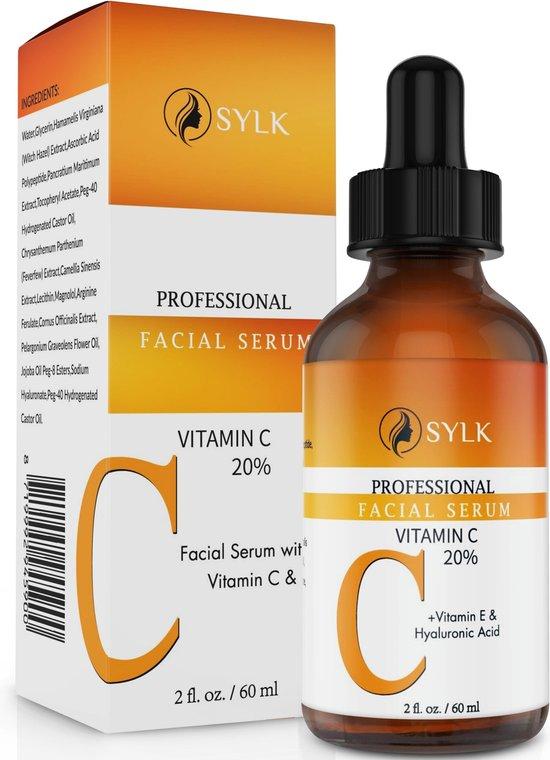 Sylk Vitamine C Serum & Hyaluronzuur serum | Anti Aging | Anti Rimpel | Gezicht Serum | Gezichtsverzorging | 60 ml