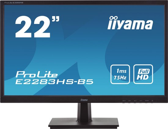 "iiyama ProLite E2283HS-B5 LED display 54,6 cm (21.5"") 1920 x 1080 Pixels Full HD Zwart"