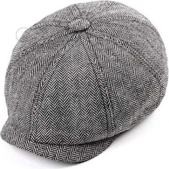 Pet Heren Flat Cap in Peaky Blinders stijl - Flatcap - Cadeau Man Verjaardag - One Size - 70% Wol