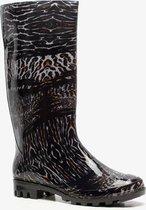 Dames regenlaarzen met luipaardprint - Zwart