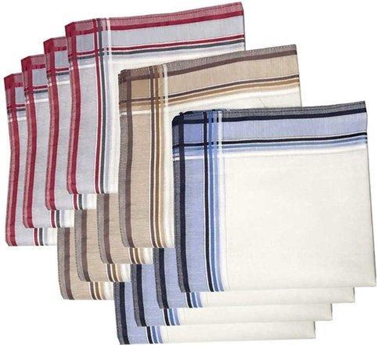 Sorprese - Zakdoeken - Heren - 12 zakdoeken - heren zakdoeken - 10