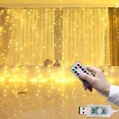 LED Kerstverlichting Lichtgordijn - 3 meter - Warm wit - 300 lichten