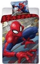 SpiderMan Dekbedovertrek Climbing - Eenpersoons - 140  x 200 cm - Katoen