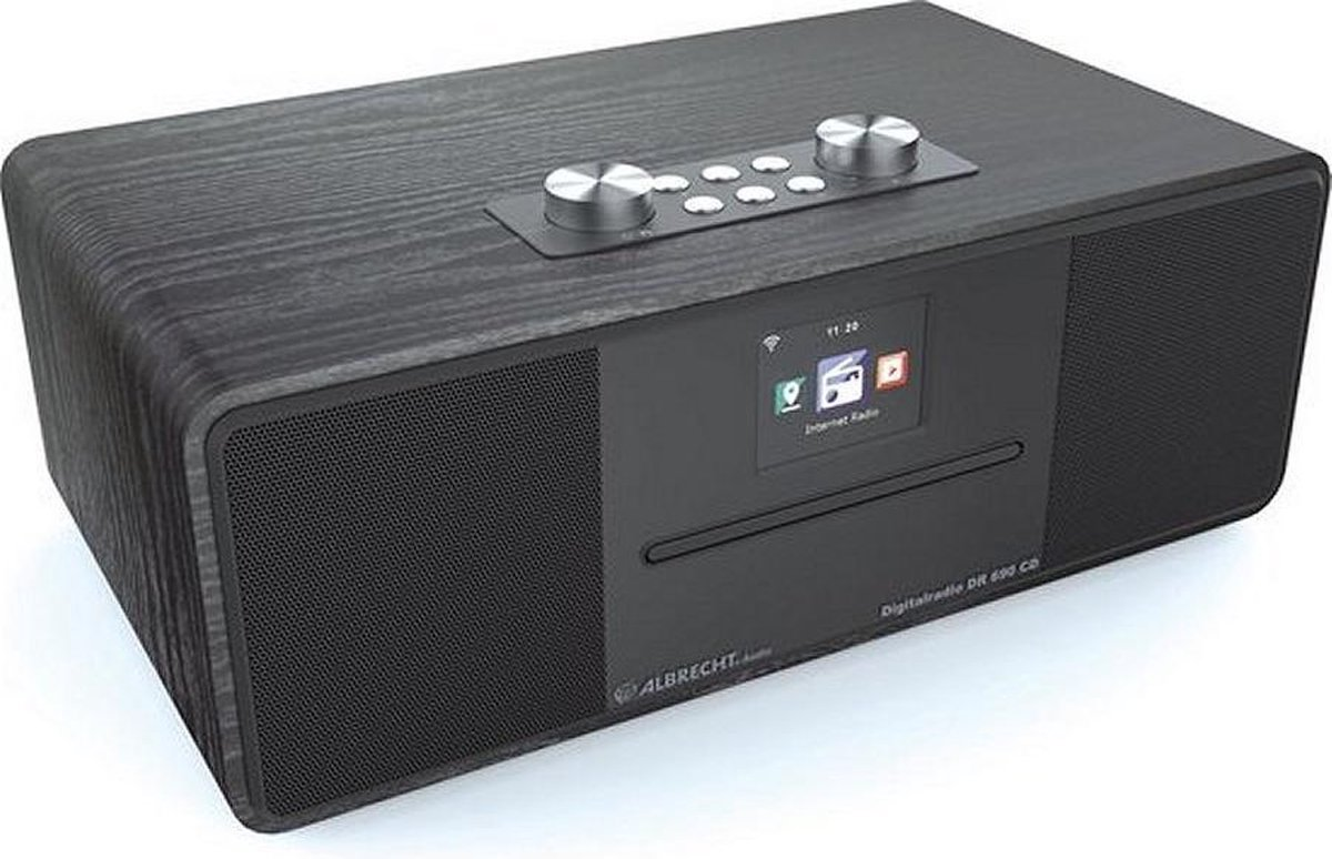 Albrecht DR 690 hybrideradio - CD-speler - DAB+ en FM- internetradio met bluetooth, zwart