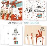 Kerstkaarten - kaartenset - ansichtkaarten - Kerst cadeaus - 12 stuks - wenskaarten - kimago.nl