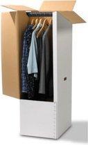 Verhuisdoos voor Kleding - Garderobebox - Kledingdoos - Garderobedoos - Inclusief roede - Extra sterk - 102x48x48cm - Verhuisdozen.store
