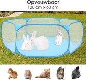 Knaagdierenren Opvouwbaar - Knaagdieren Ren voor buiten en binnen 120 cm - Knaagdierenren - Knaagdieren Kooi - Konijnenren - Cavia - Chinchilla - Caviakooi - Cavia's - Opvouwbaar - Knaagdier