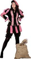 Piet Kostuum | Roze Gestreepte Piet Dames | Vrouw | Maat 46 | Sinterklaas | Verkleedkleding
