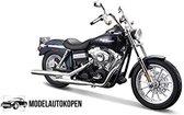 Harley Davidson FXDBI Dyna Street Bob 2006 (Donkerblauw) 1/12 Maisto - Modelmotor - Schaal model - Model motor - harley davidson schaalmodel
