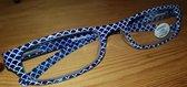 Mondano Leesbril blauw wit sterkte +1,00