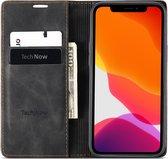 iPhone 12 Hoesje en iPhone 12 Pro Hoesje - Book Case Slimline - Zwart