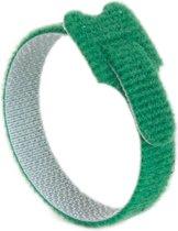 Klittenband cable ties 10 stuks . Groen. 200 x 12.5mm.  + kortpack pen (098.0622)