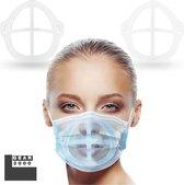 GEAR3000® - Innermask voor mondkapje - 2 stuks - Bracket 3D voor masker - herbruikbaar - weerhoudt lippenstift & make-up