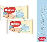 Duo pack-Huggies Babydoekjes - Pure 56 Stuks (5029053550039)
