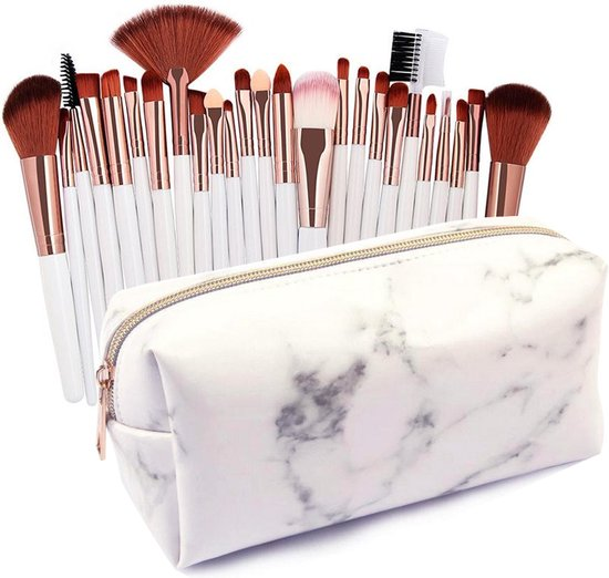 Evvie 24-delige make-up kwastenset