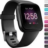 Fitbit versa sport band - zwart - SM - Horlogeband Armband Polsband