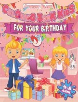 Coloring book kids for your birthday