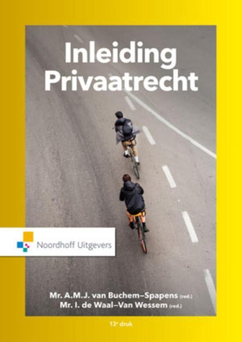 Inleiding privaatrecht - A.M.J. van Buchem-Spapens