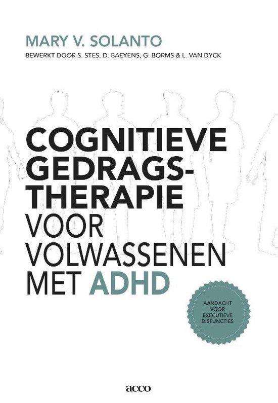 Cover van het boek 'Cognitieve gedragstherapie voor volwassenen met ADHD  / deel Handleiding'