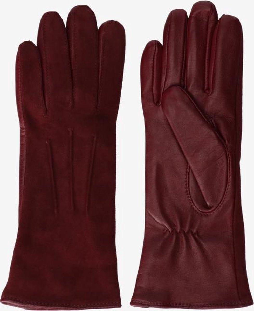 Sissy-Boy - Donkerrode handschoenen leer/suède - S