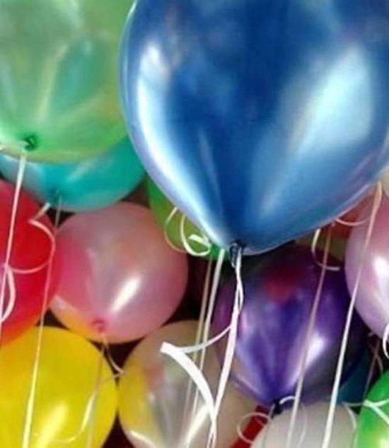 49 st. verjaardag feest assortiment XL (metallic) ballonnen - o.a. ballonnen blauw - verjaardag ballonnen - extra groot ca. 38 cm lang - peervorm - hoge kwaliteit bio afbreekbaar latex - voor helium, lucht, etc - met snel sluiters t.w.v. 9,95