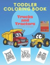 Toddler coloring book Trucks and Tractors
