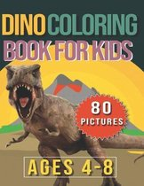 Dino Coloring Boos For Kids - Ages 4-8