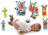 Sozzy Baby rammelaar's set zebra colectie VOORDEEL VERPAKKING!