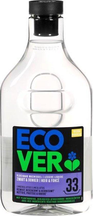 Ecover Vloeibaar Wasmiddel Zwart & Donker - Limoen & Lotus - 1,5 l - 33 wasbeurten