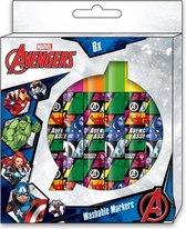 Marvel Stiftenset Avengers Uitwasbaar Junior 8-delig
