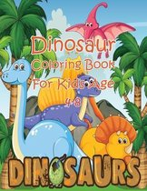 Dinosaur Coloring Book For Kids Age 4-8