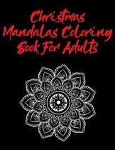 Christmas Mandala.Coloring Book For Adults