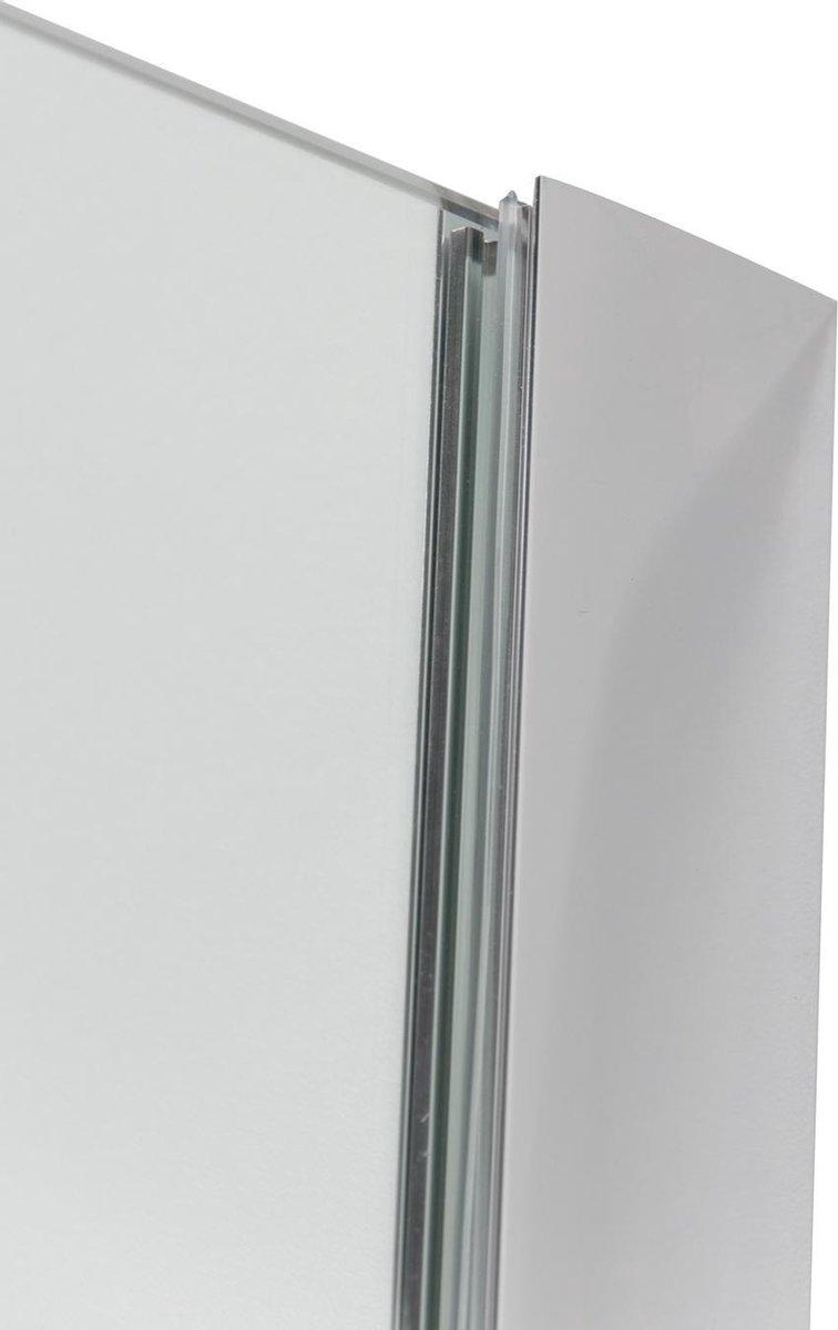 WOON-DISCOUNTER.NL - Muurprofiel 200 cm - Gepolijst aluminium - 991007-10 mm