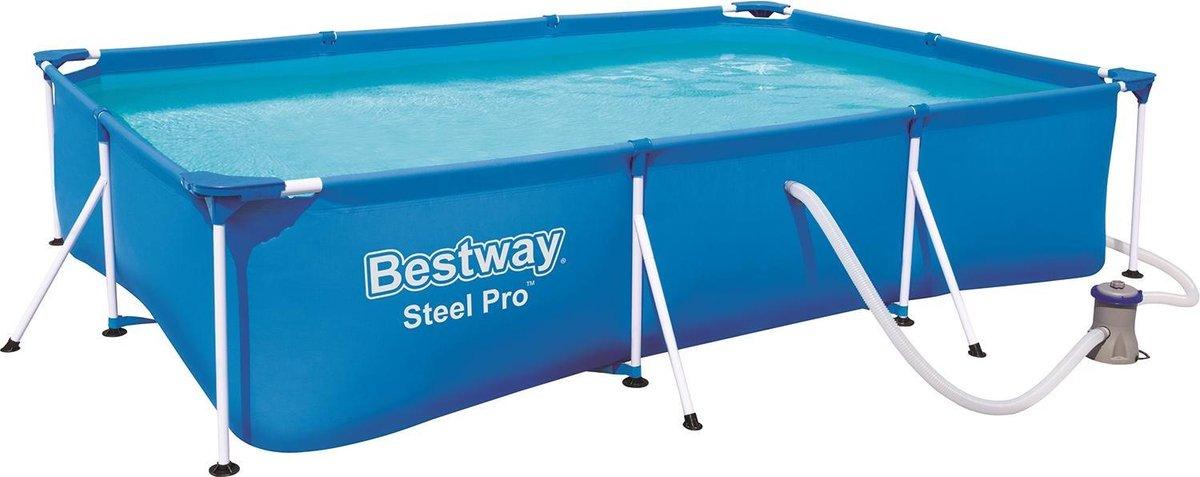 Bestway Steel Pro zwembad + filterpomp 300 x 201 x 66 cm